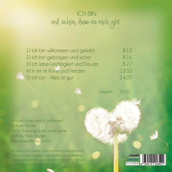 ICH BIN und schön, dass es mich gibt CD Karin Wanker Cover Rückseite